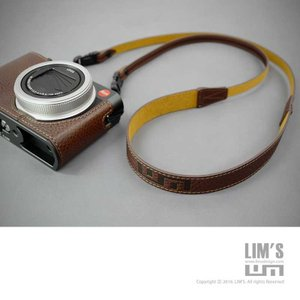 LIM'S Italian MINERVA Genuine Leather Neck Strap for Compact Camera NS-CC1BR Brown コンパクトカメラ用 ネックストラップ|nineselect|10
