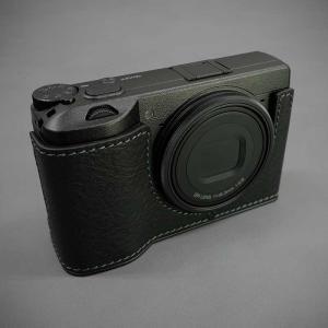 LIM'S リムズ Italian MINERVA BOX Genuine Leather Half Case for RICOH GR3 RC-GR3BK Black リコー GRIII 本革 カメラケース|nineselect|02