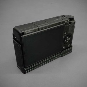 LIM'S リムズ Italian MINERVA BOX Genuine Leather Half Case for RICOH GR3 RC-GR3BK Black リコー GRIII 本革 カメラケース|nineselect|03
