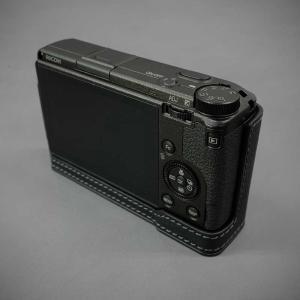 LIM'S リムズ Italian MINERVA BOX Genuine Leather Half Case for RICOH GR3 RC-GR3BK Black リコー GRIII 本革 カメラケース|nineselect|04