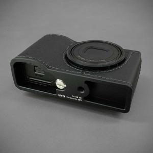 LIM'S リムズ Italian MINERVA BOX Genuine Leather Half Case for RICOH GR3 RC-GR3BK Black リコー GRIII 本革 カメラケース|nineselect|05