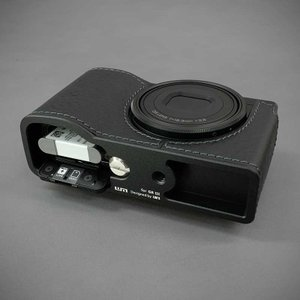 LIM'S リムズ Italian MINERVA BOX Genuine Leather Half Case for RICOH GR3 RC-GR3BK Black リコー GRIII 本革 カメラケース|nineselect|06