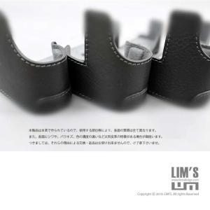 LIM'S リムズ Italian MINERVA BOX Genuine Leather Half Case for RICOH GR3 RC-GR3BK Black リコー GRIII 本革 カメラケース|nineselect|09