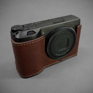 LIM'S リムズ Italian MINERVA BOX Genuine Leather Half Case for RICOH GR3 RC-GR3BR Brown リコー GRIII 本革 カメラケース|nineselect|02