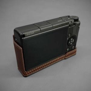 LIM'S リムズ Italian MINERVA BOX Genuine Leather Half Case for RICOH GR3 RC-GR3BR Brown リコー GRIII 本革 カメラケース|nineselect|03