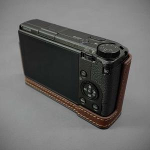 LIM'S リムズ Italian MINERVA BOX Genuine Leather Half Case for RICOH GR3 RC-GR3BR Brown リコー GRIII 本革 カメラケース|nineselect|04