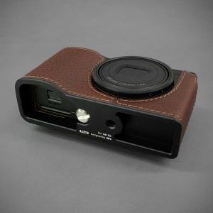 LIM'S リムズ Italian MINERVA BOX Genuine Leather Half Case for RICOH GR3 RC-GR3BR Brown リコー GRIII 本革 カメラケース|nineselect|05