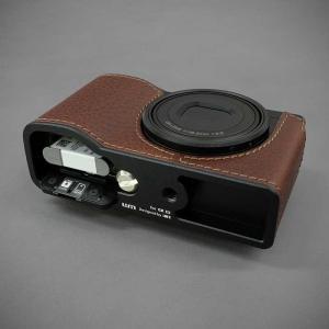 LIM'S リムズ Italian MINERVA BOX Genuine Leather Half Case for RICOH GR3 RC-GR3BR Brown リコー GRIII 本革 カメラケース|nineselect|06