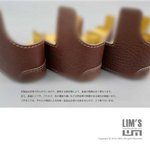 LIM'S リムズ Italian MINERVA BOX Genuine Leather Half Case for RICOH GR3 RC-GR3BR Brown リコー GRIII 本革 カメラケース|nineselect|09