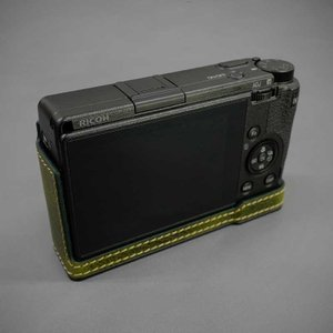 LIM'S リムズ Italian MINERVA BOX Genuine Leather Half Case for RICOH GR3 RC-GR3KK Khaki リコー GRIII 本革 カメラケース nineselect 03