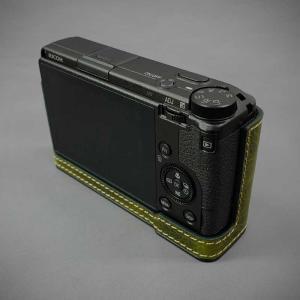 LIM'S リムズ Italian MINERVA BOX Genuine Leather Half Case for RICOH GR3 RC-GR3KK Khaki リコー GRIII 本革 カメラケース nineselect 04