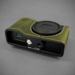 LIM'S リムズ Italian MINERVA BOX Genuine Leather Half Case for RICOH GR3 RC-GR3KK Khaki リコー GRIII 本革 カメラケース nineselect 05