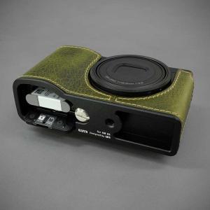 LIM'S リムズ Italian MINERVA BOX Genuine Leather Half Case for RICOH GR3 RC-GR3KK Khaki リコー GRIII 本革 カメラケース nineselect 06
