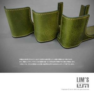 LIM'S リムズ Italian MINERVA BOX Genuine Leather Half Case for RICOH GR3 RC-GR3KK Khaki リコー GRIII 本革 カメラケース nineselect 09