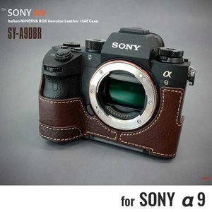 LIM'S リムズ Italian MINERVA BOX Genuine Leather Half Case for SONY α9 SY-A9DBR Brown ソニー A9 カメラケース|nineselect