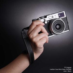 『クリックポストOK!』 TP Original Leather Camera Wrist Strap TA016BK Black 本革 カメラストラップ リストストラップ 牛革 レザー ハンドストラップ nineselect