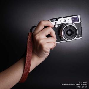 『クリックポストOK!』 TP Original Leather Camera Wrist Strap TA016BR Brown 本革 カメラストラップ リストストラップ 牛革 レザー ハンドストラップ nineselect