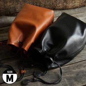 TP Original/ティーピー オリジナル Leather Pouch Mサイズ 2colors TA18 レザーポーチ 本革 カメラポーチ レンズポーチ 巾着 きんちゃく袋 カメラ女子|nineselect
