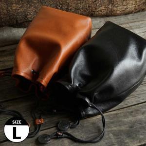 TP Original Leather Pouch Lサイズ 2colors TA19 レザーポーチ 本革 カメラポーチ レンズポーチ 巾着 きんちゃく袋 カメラ女子|nineselect