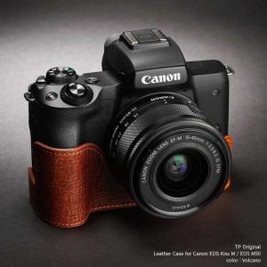 TP Original Leather Camera Case for Canon EOS Kiss M / EOS M50 Volcano 本革 カメラケース レザーケース Classic Series TB05EOSM50-LB|nineselect