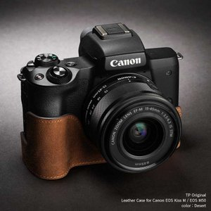 TP Original Leather Camera Case for Canon EOS Kiss M / EOS M50 Desert 本革 カメラケース レザーケース Classic Series TB05EOSM50-SB|nineselect