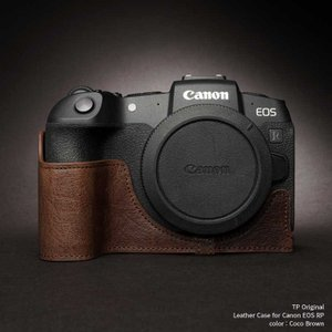 TP Original Leather Camera Body Case for Canon EOS RP Coco Brown キャノン キヤノン 本革 レザー カメラケース TB05EOSRP-CO|nineselect