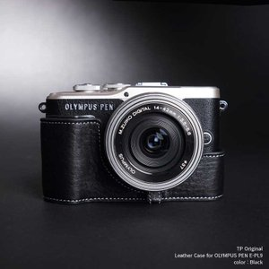 TP Original Leather Camera Case for OLYMPUS PEN E-PL9 Black 本革 カメラケース レザーケース おしゃれ Classic Series TB05EPL9-BK|nineselect