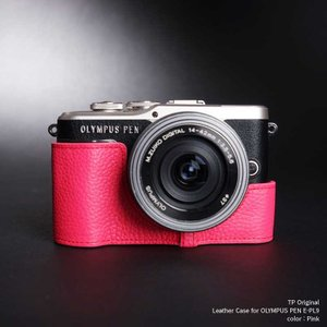 TP Original Leather Camera Case for OLYMPUS PEN E-PL9 Dark Pink 本革 カメラケース レザーケース おしゃれ Classic Series TB05EPL9-DP|nineselect