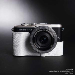 TP Original Leather Camera Case for OLYMPUS PEN E-PL9 White 本革 カメラケース レザーケース おしゃれ Classic Series TB05EPL9-WH|nineselect