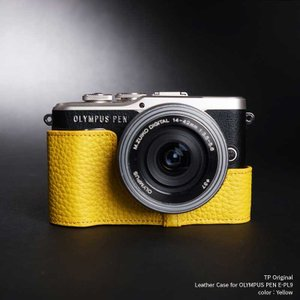 TP Original Leather Camera Case for OLYMPUS PEN E-PL9 Yellow 本革 カメラケース レザーケース おしゃれ Classic Series TB05EPL9-YW|nineselect