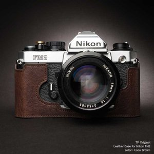 TP Original Leather Camera Body Case for Nikon FM2 Coco Brown ニコン 本革 レザー カメラケース Classic Series TB05FM2-CO|nineselect