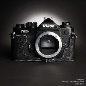 TP Original Nikon FM3A 専用 レザー カメラケース Black ブラック ニコン フィルムカメラ ケース おしゃれ 速写ケース TB05FM3A-BK|nineselect