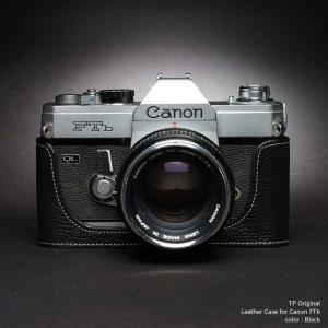 TP Original Canon FTb 専用 レザー カメラケース Black ブラック おしゃれ 速写ケース TB05FTB-BK nineselect