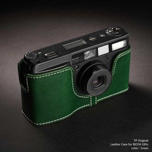 TP Original Leather Camera Body Case for RICOH GR1v Green リコー 本革 レザー カメラケース Classic  Series TB05GR1V-GR|nineselect