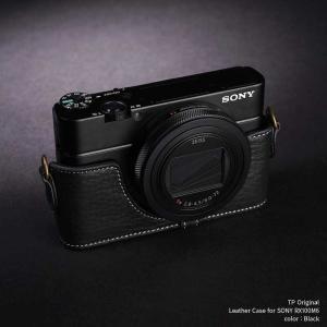 TP Original Leather Camera Body Case for SONY RX100M6 Black 本革 カメラケース レザーケース おしゃれ  ソニー RX100VI Classic Series TB05RX106-BK|nineselect