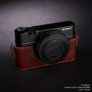 TP Original Leather Camera Body Case for SONY RX100M6 Brown 本革 カメラケース レザーケース おしゃれ  ソニー RX100VI Classic Series TB05RX106-BR|nineselect