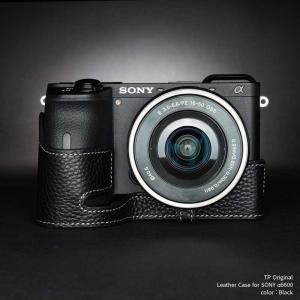 TP Original SONY α6600 専用 レザー カメラケース Black ブラック おしゃれ 速写ケース TB06A66-BK|nineselect