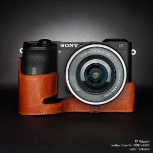 TP Original SONY α6600 専用 レザー カメラケース Volcano ボルケーノ おしゃれ 速写ケース TB06A66-LB nineselect
