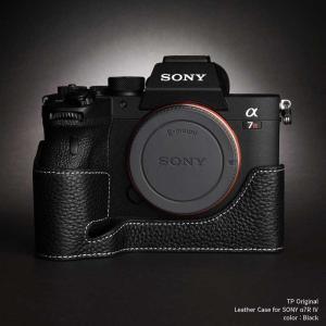 TP Original SONY α7R IV / α9II 専用 レザー カメラケース Black ブラック A7R4 α7R4 A9II TB06A74-BK|nineselect