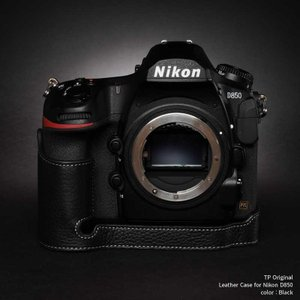 TP Original Nikon D850 専用 レザー カメラケース Black ブラック おしゃれ 速写ケース TB06D850-BK nineselect