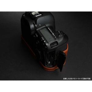 TP Original Leather Camera Body Case for Canon EOS 5D Mark IV Volcano キャノン 本革 レザー カメラケース EZ Series TB06E5D4-LB|nineselect|03