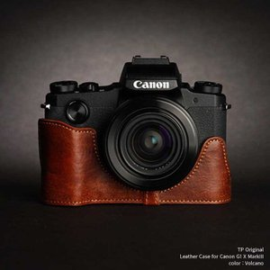 TP Original Leather Camera Body Case for Canon PowerShot G1 X MarkIII Volcano キャノン 本革 レザー カメラケース おしゃれ EZ Series TB06G1X3-LB|nineselect