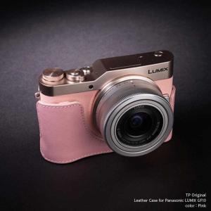 TP Original Leather Camera Body Case for Panasonic LUMIX GF10 DC-GF10 Pink ピンク パナソニック 本革 レザー カメラケース おしゃれ EZ Series TB06GF10-PK|nineselect