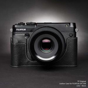TP Original FUJIFILM GFX 50R 専用 レザー カメラケース Black ブラック おしゃれ 速写ケース TB06GFX50R-BK|nineselect