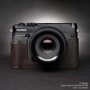 TP Original FUJIFILM GFX 50R 専用 レザー カメラケース Coco Brown ココ ブラウン おしゃれ 速写ケース TB06GFX50R-CO nineselect