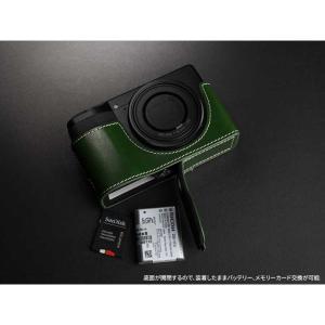 TP Original Leather Camera Body Case for RICOH GR III  Green リコー GR3 本革 レザー カメラケース EZ Series TB06GR3-GR nineselect 06