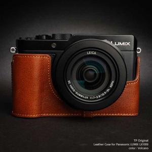 TP Original Leather Camera Body Case for Panasonic LUMIX LX100II Volcano パナソニック 本革 レザー カメラケース TB06LX102-LB|nineselect
