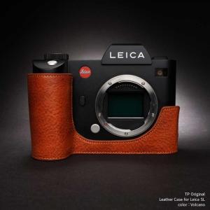 TP Original Leather Camera Body Case for Leica SL Volcano ライカ 本革 レザー カメラケース 底面開閉 EZ Series TB06SL-LB|nineselect