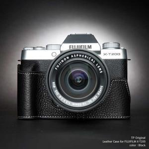 TP Original FUJIFILM X-T200 専用 レザー カメラケース Black ブラック おしゃれ 速写ケース TB06XT200-BK nineselect