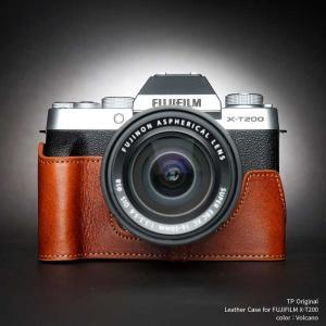 TP Original FUJIFILM X-T200 専用 レザー カメラケース Volcano ボルケーノ おしゃれ 速写ケース TB06XT200-LB nineselect
